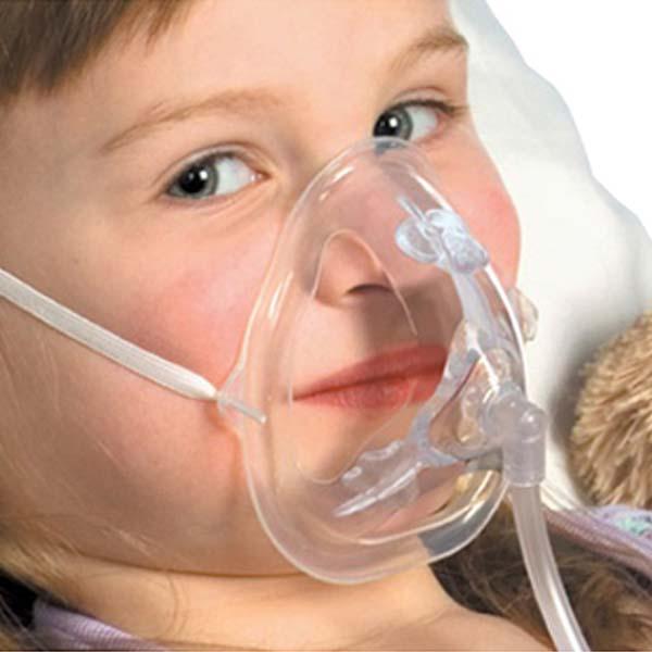 Mascarilla de oxigeno niño
